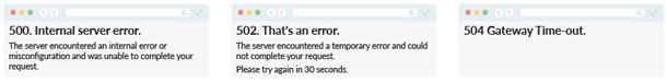 5XX Server Error Examples