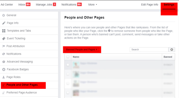 Facebook Settings Page Roles