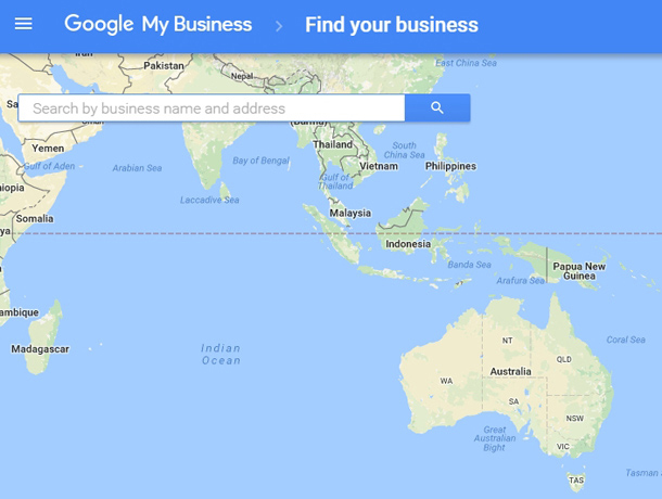 Google Maps Search by business name and address option