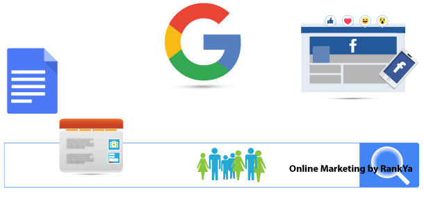 Online Marketing for business website growth