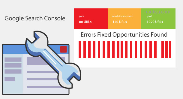 Search Console data chart Webmaster Tools illustration