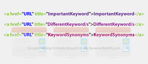 Search Engine Ranking Formula Using HTML anchor text