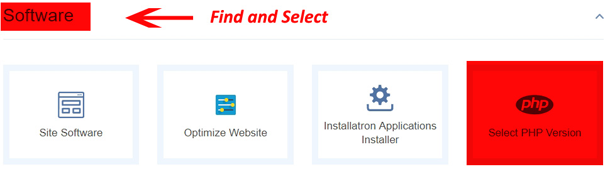 PHP Version Crazy Domains Web Hosting Setting