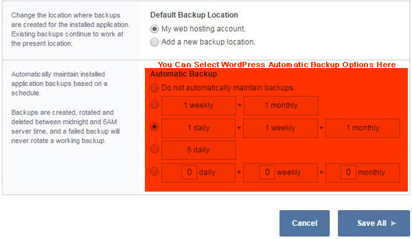 Backup Options for WordPress Site Through Web Hosting Account