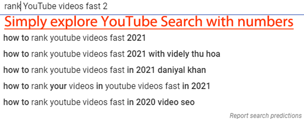 YouTube search date range searches