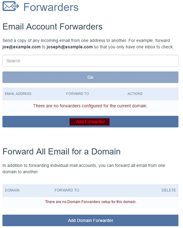 Crazy Domains Email Account Forwarders