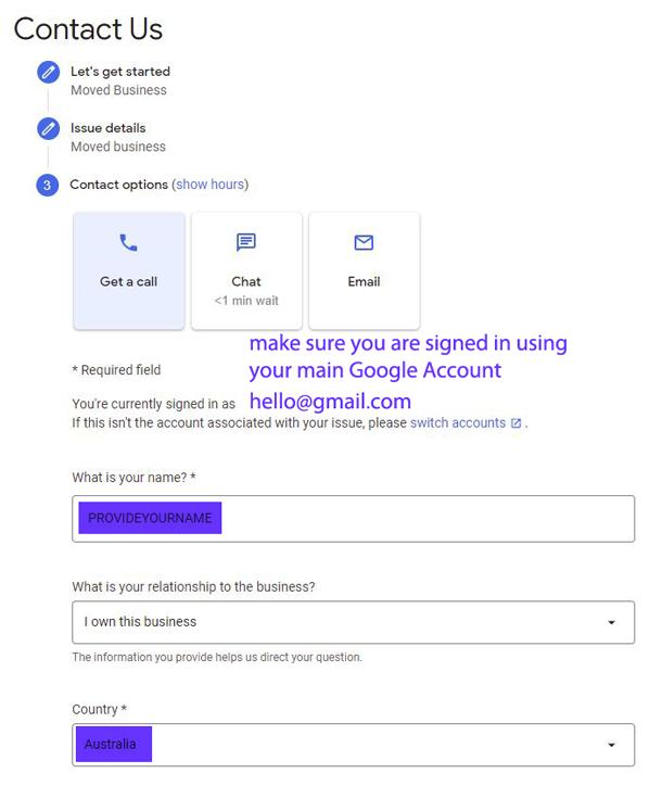 Google My Business help Australia
