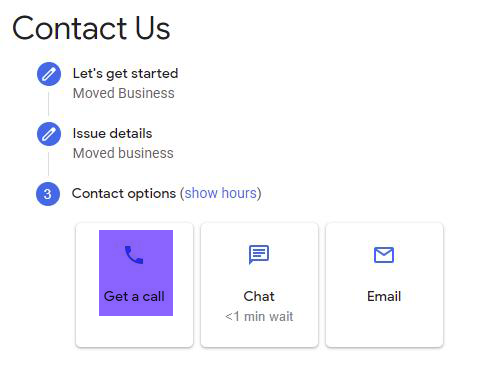 Google My Business Support Contact Options