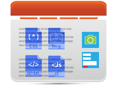 web page content illustration
