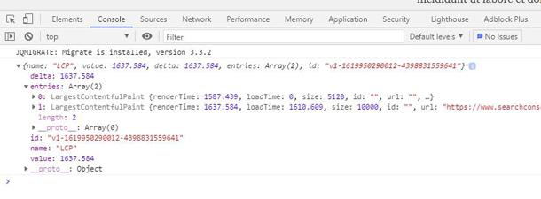 Chrome Web Developer Toolbar Console Tab