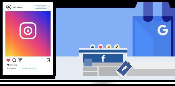social media marketing Facebook Instagram Google My Business